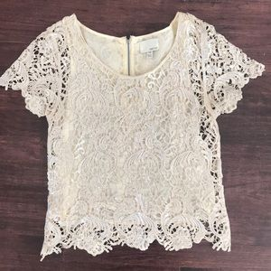 Greylin boutique cream lace with silver top